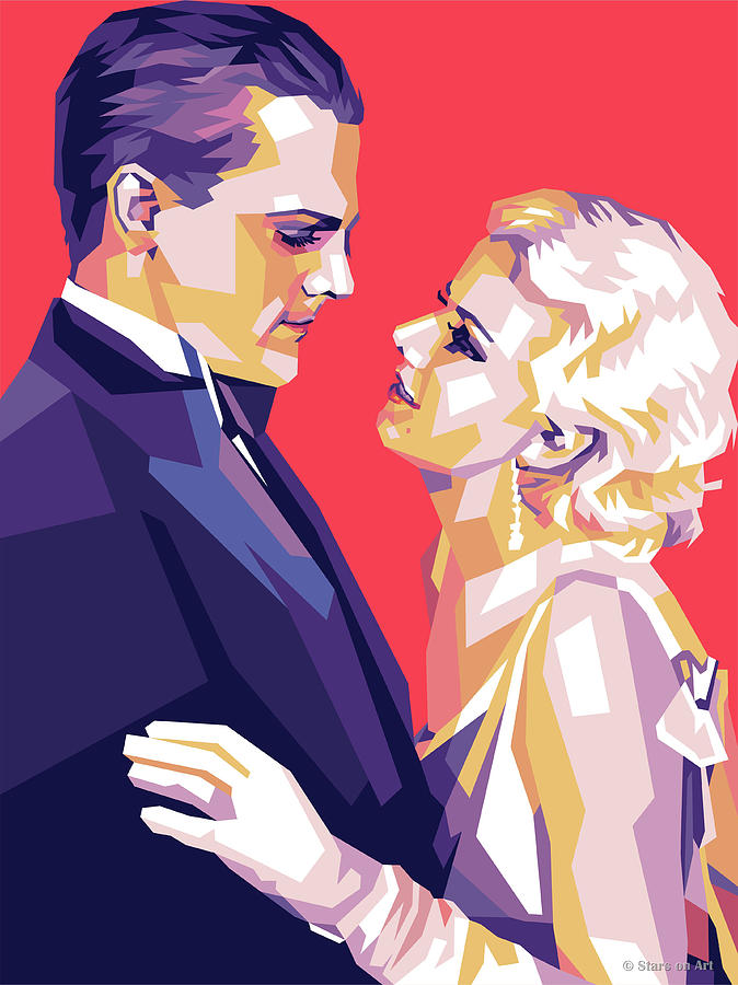 James Digital Art - James Cagney and Jean Harlow by Stars on Art