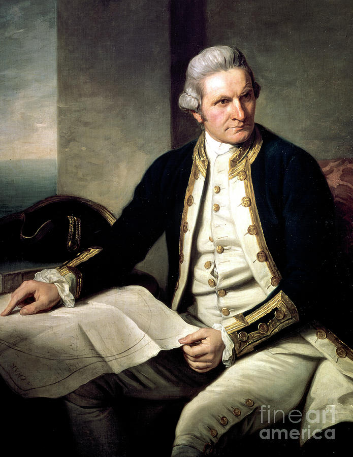 James Cook, English Explorer, Navigator Drawing by Print Collector