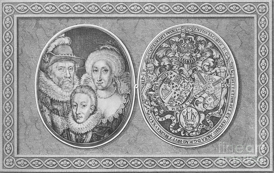 James I Anne Of Denmark And Henry Drawing by Print Collector