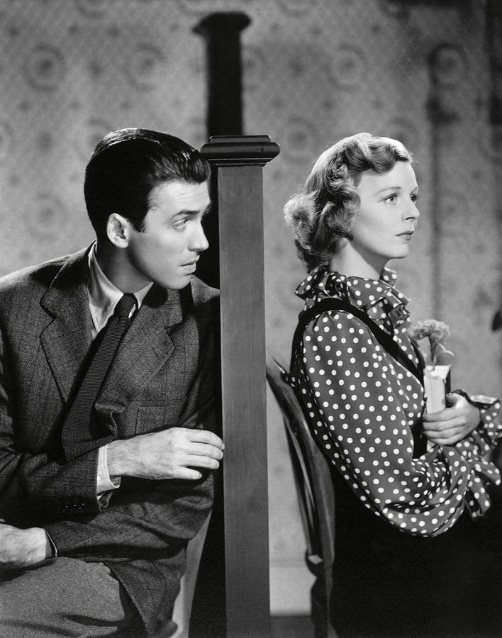JAMES STEWART and MARGARET SULLAVAN in THE SHOP AROUND THE CORNER -1940-.  Photograph by Album