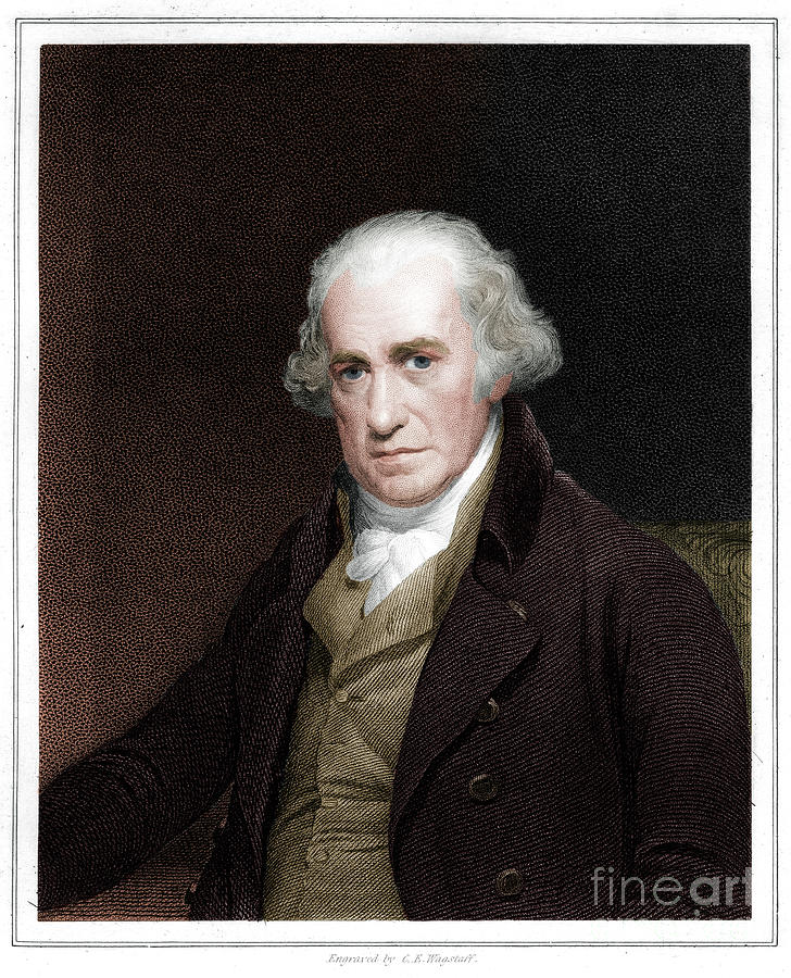James Watt Scottish Engineer 1833 Drawing by Print Collector