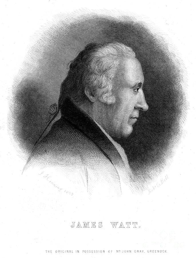 James Watt, Scottish Engineer, 19th Drawing by Print Collector