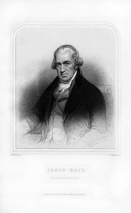 James Watt, Scottish Inventor Drawing by Print Collector