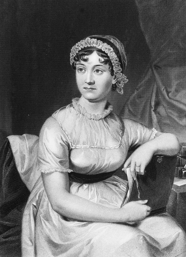 Jane Austen Digital Art by Hulton Archive