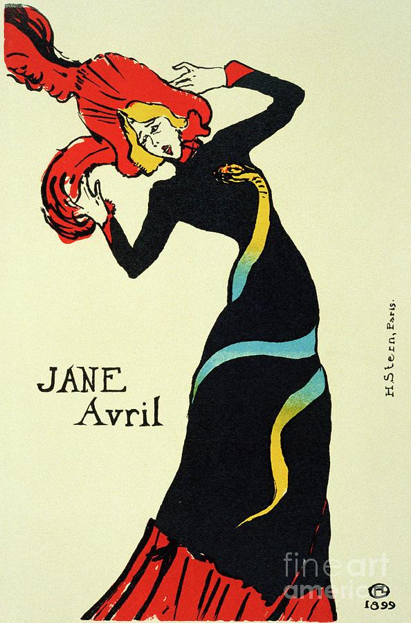 Jane Avril, 1899. Artist Henri De Drawing by Heritage Images