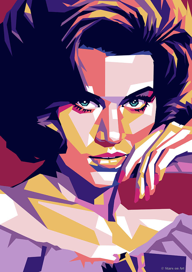 Jane Digital Art - Jane Fonda by Stars on Art