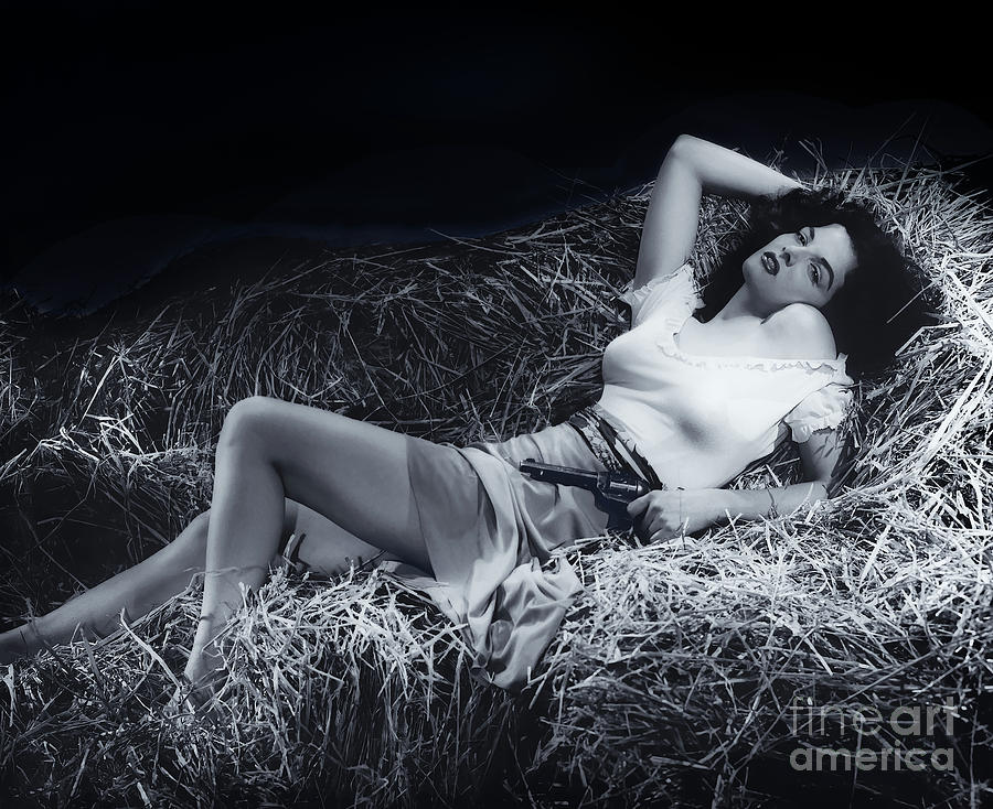 Jane Russell Mixed Media - Jane Russell by Kultur Arts Studios