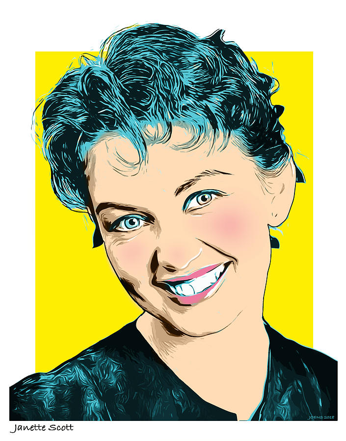 Celebrity Digital Art - Janette Scott 2 by Greg Joens