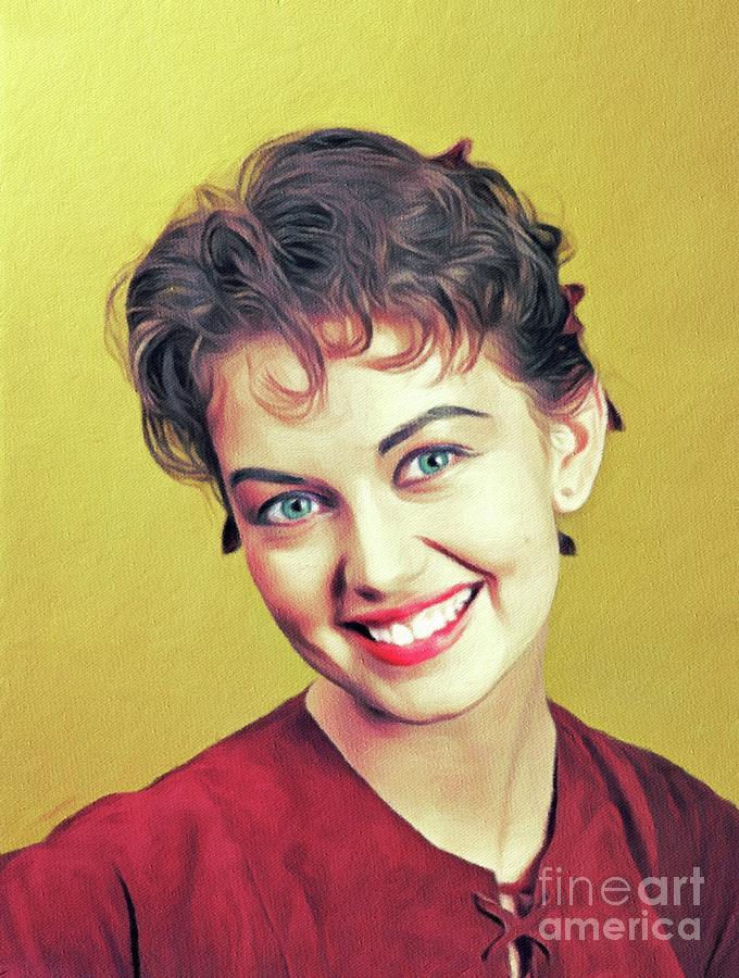Janette Scott, Vintage Actress Painting