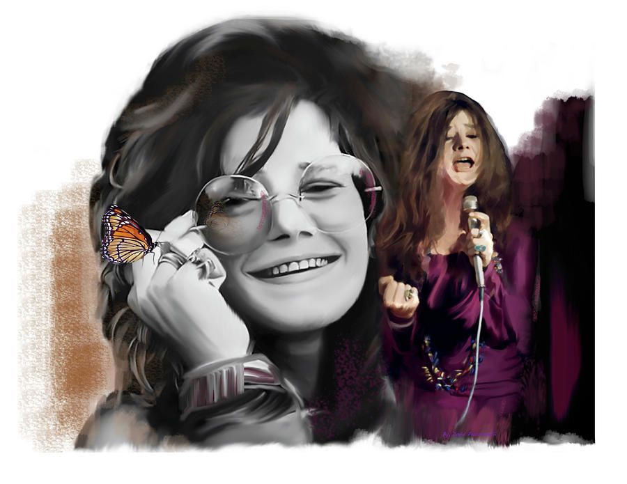Janis Joplin Chrysalis  by Iconic Images Art Gallery David Pucciarelli
