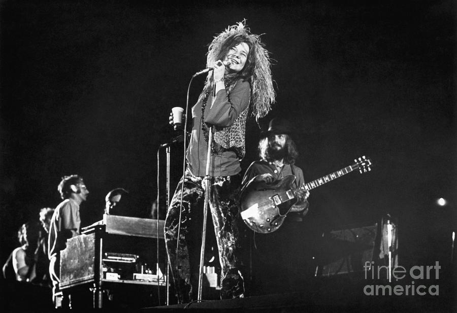 Janis Joplin Performing In Concert Photograph by Bettmann
