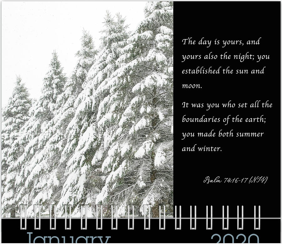January 2020 Inspirational Calendar Preview by Joni Eskridge