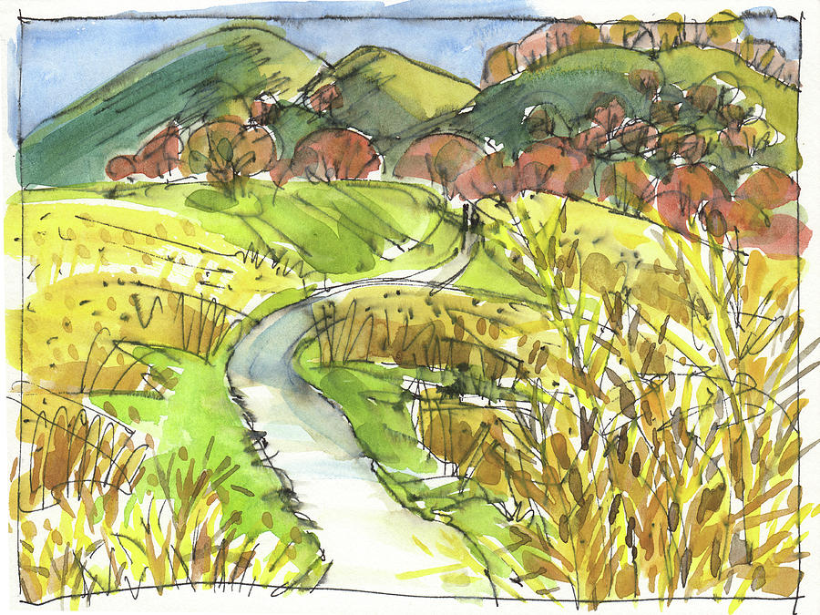 Landscape Painting - January Sunlight by Judith Kunzle