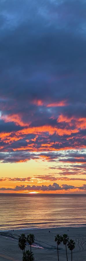 Sunset Photograph - January Sunset - Vertirama 3 by Gene Parks