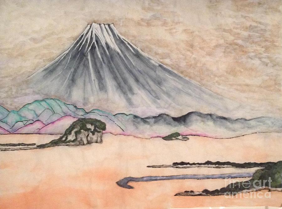 Rinpa Painting - Japan art and Mount Fuji - Suzuki Kiitsu in color by Sawako Utsumi by Sawako Utsumi