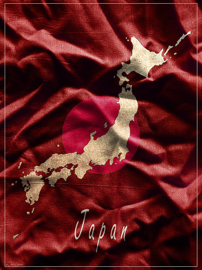 Japan Art Map Style 11 by Greg Edwards