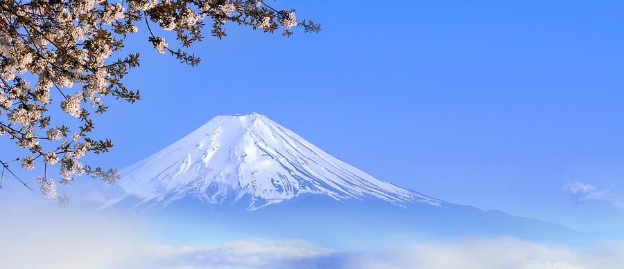 Japan, Chubu Region, Mt Fuji, Spring Photograph by Tom Bonaventure