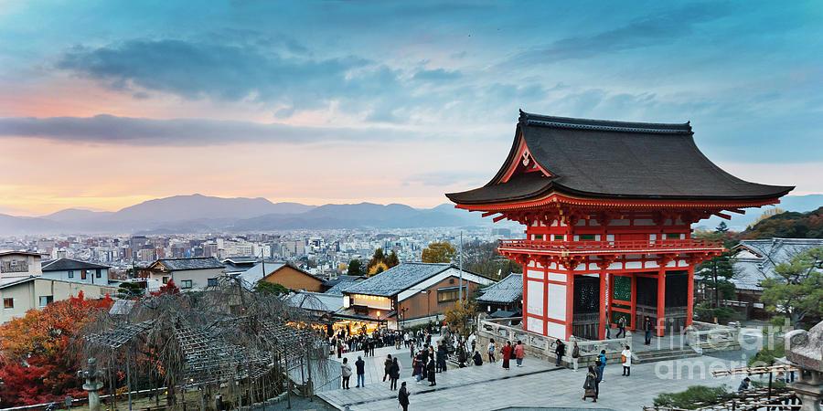 Cherry Photograph - Japan - Kyoto. Kiyomizu Temple by Kanuman