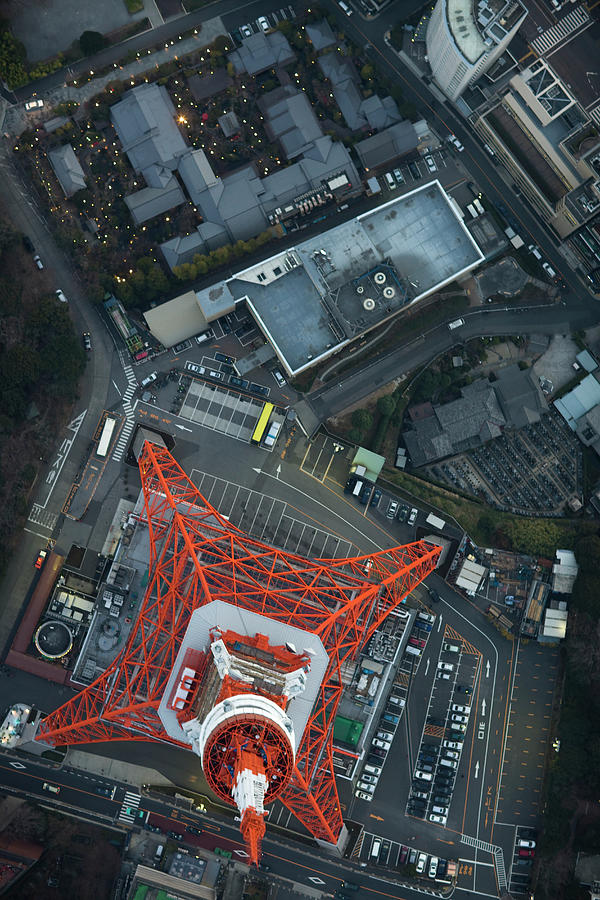 Japan, Tokyo, Aerial View Of Minato-ku Photograph by Michael H