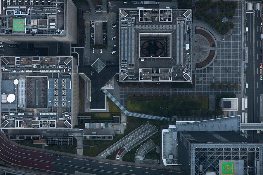 Japan, Tokyo, Aerial View Of Shinagawa Photograph by Michael H