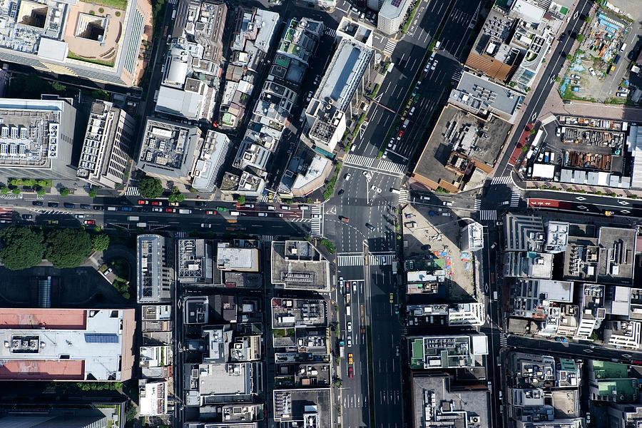 Japan, Tokyo, Hamamatsucho, Aerial View Photograph by Flashfilm