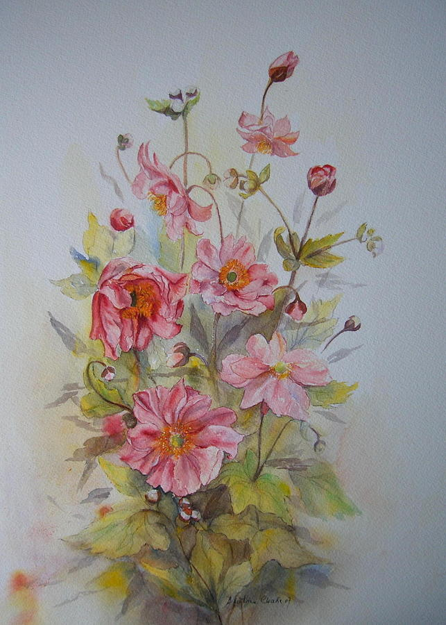Japanese Anemones by Beatrice Cloake