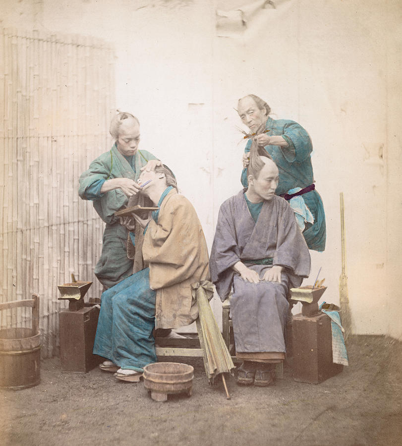 Japanese Barbers Photograph by Felice Beato