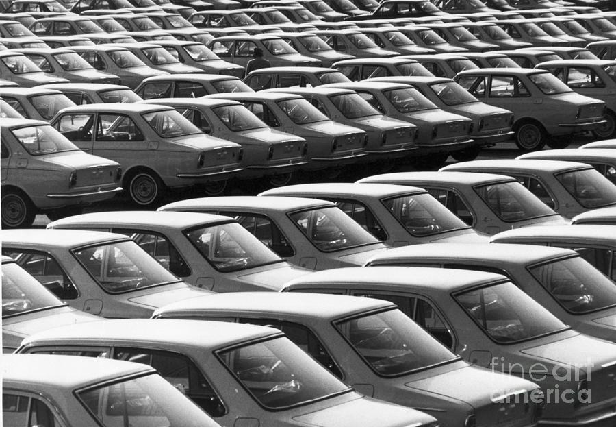 Japanese Compact Cars For Export Photograph by Bettmann
