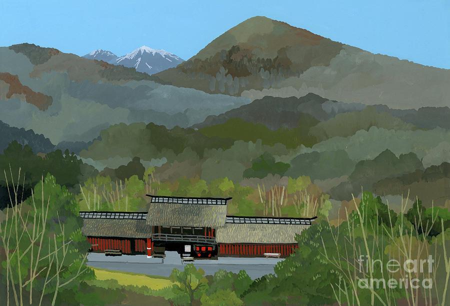 Japanese Countryside Painting - Japanese Countryside by Hiroyuki Izutsu