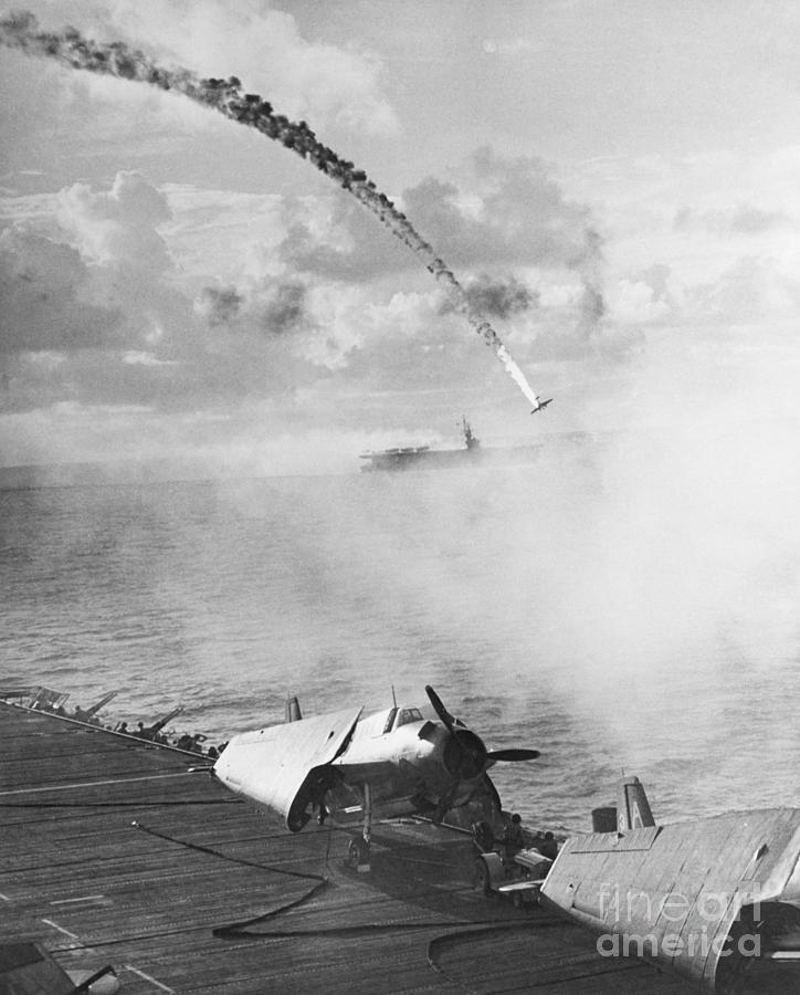 Japanese Fighter Shot Photograph by Bettmann