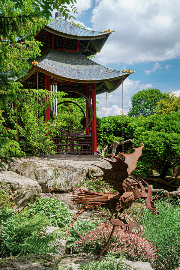 Japanese Garden Gazebo by Tom Mc Nemar