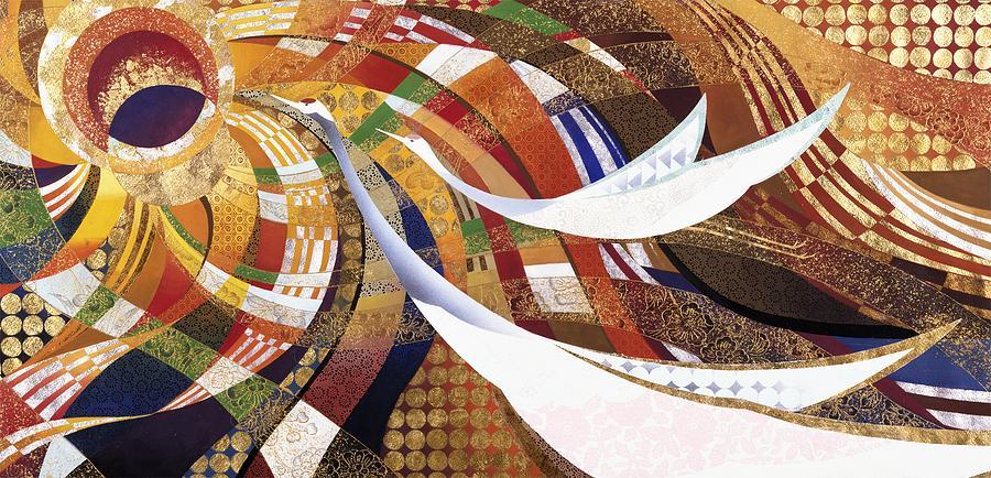 Crane Painting - Japanese Modern Interior Art #132 by ArtMarketJapan