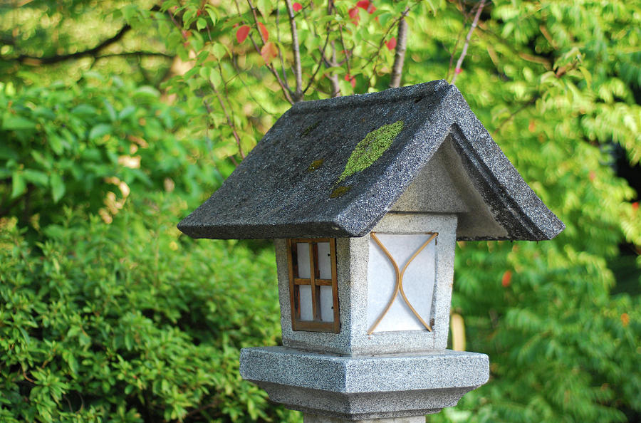 Japanese Stone Lantern Photograph by Uschools