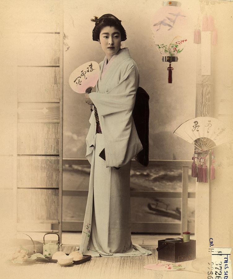 Japanese Woman Photograph by Baron Von Stillfried