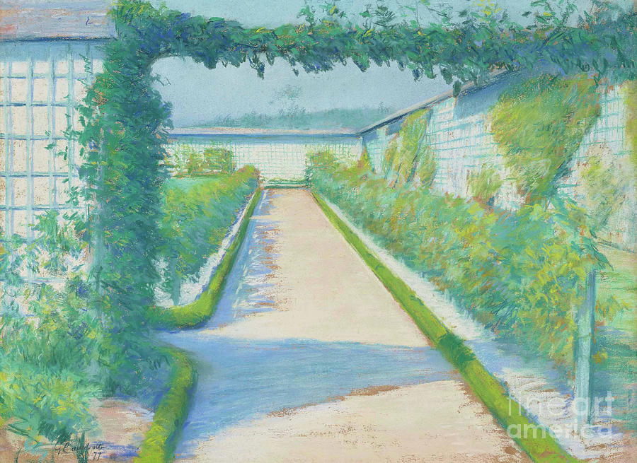 Yerres Pastel - Jardin Potager, Yerres, 1877  by Gustave Caillebotte