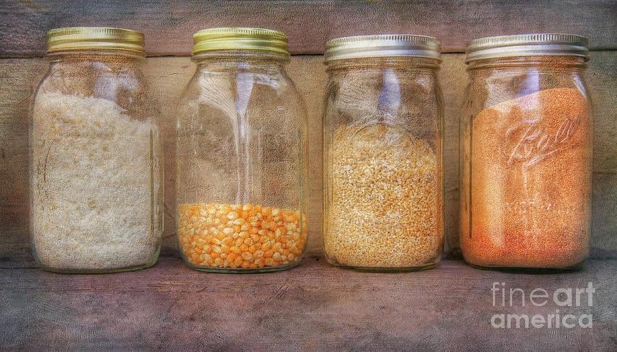 Jars on Kitchen Shelf by Randy Steele