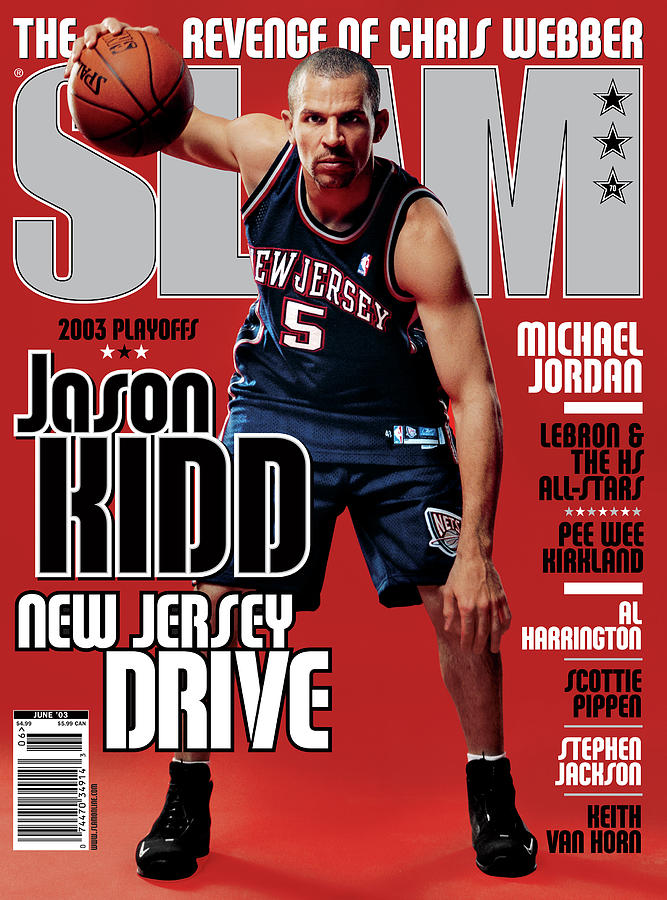 Jason Kidd: New Jersey Drive SLAM Cover Photograph by Clay Patrick McBride