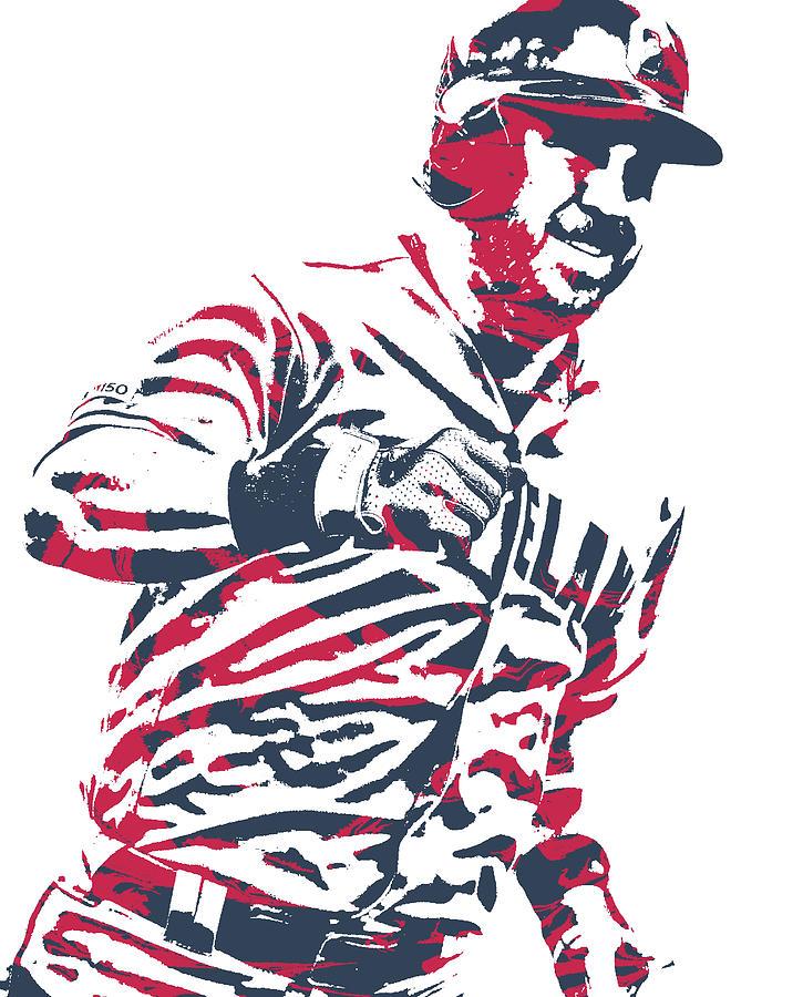 Jason Kipnis Mixed Media - Jason Kipnis Cleveland Indians Pixel Art 10 by Joe Hamilton