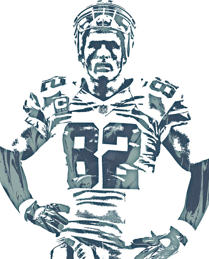 Jason Witten Mixed Media - Jason Witten Dallas Cowboys Pixel Art 22 by Joe Hamilton