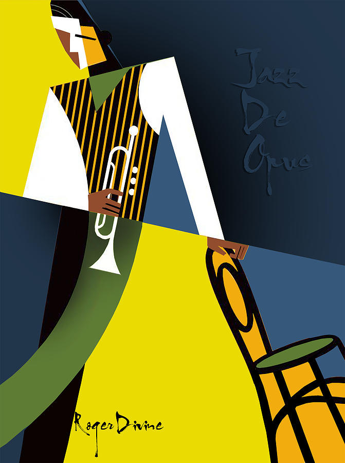 Jazz Digital Art - Jazz De Opus by Roger Divine