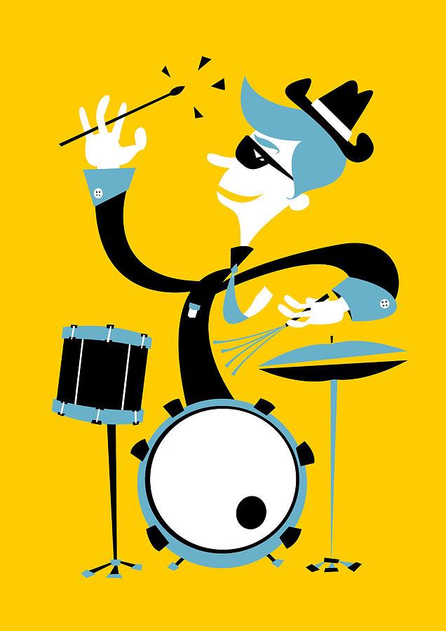 Jazz Drummer Digital Art by Arthurporto.com
