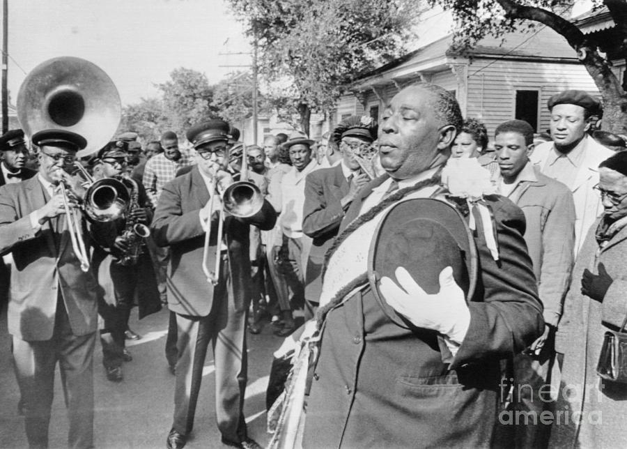 Jazz Funeral For Bandleader John Casimir Photograph by Bettmann