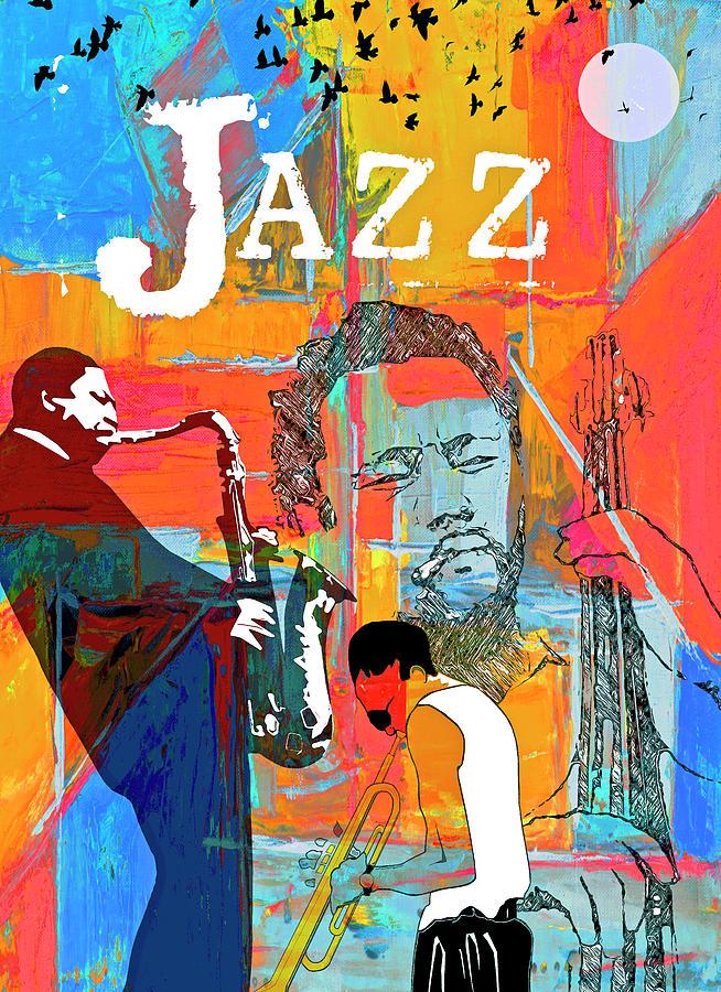 Collage Digital Art - Jazz Greats  by Regina Wyatt
