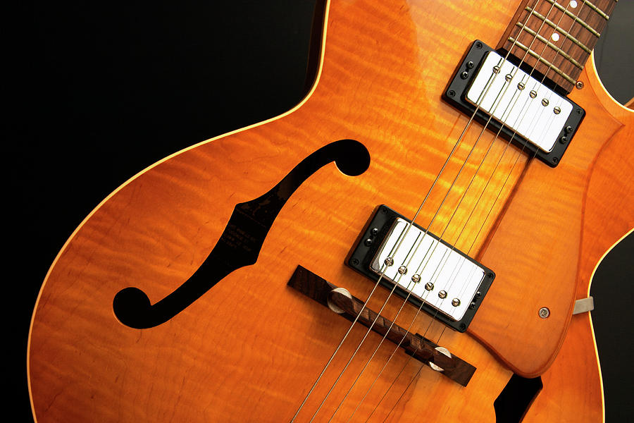 Jazz Guitar On Black Photograph by Andyl