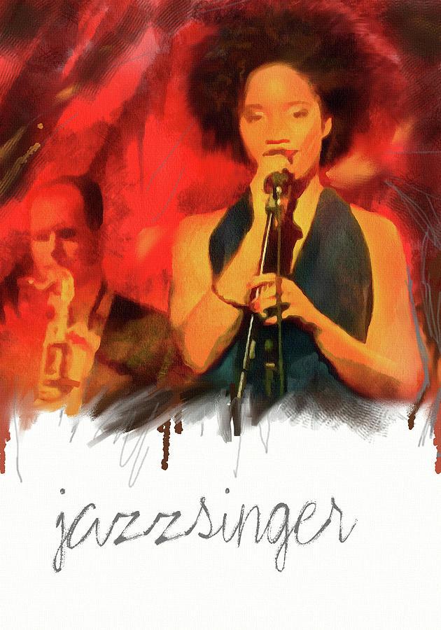 Jazz Mixed Media - Jazz  Singer by Md Jo