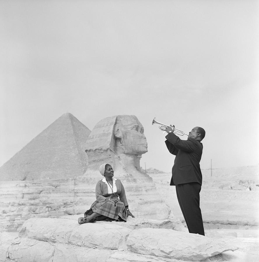 Jazz Trumpeter Louis Armstrong Playing Photograph by Bettmann