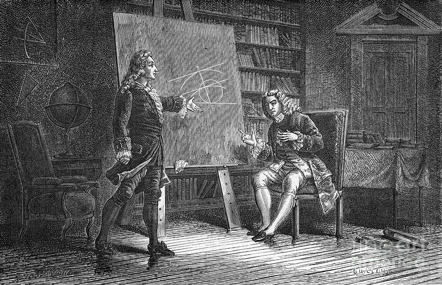 Jean And Jacques Bernoulli Working Drawing by Print Collector