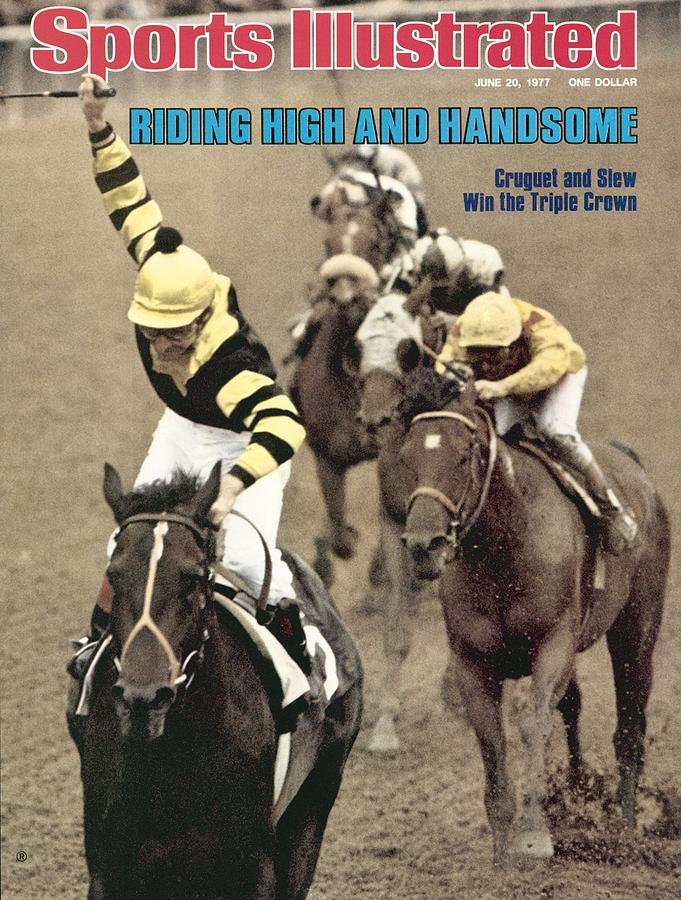 Jean Cruguet, 1977 Belmont Stakes Sports Illustrated Cover Photograph by Sports Illustrated