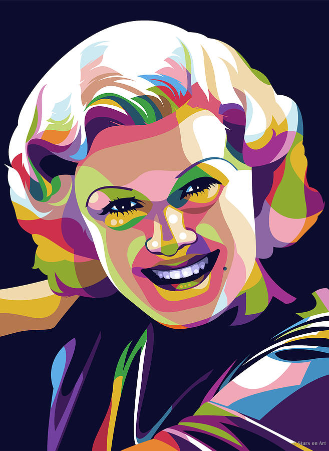 Jean Harlow Illustration Digital Art
