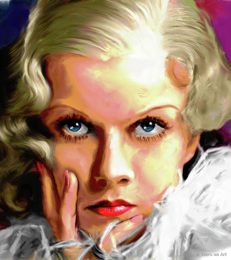 Jean Harlow Painting Painting